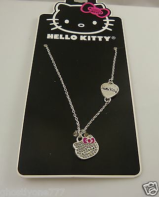 Hello Kitty necklace sanrio silvertone