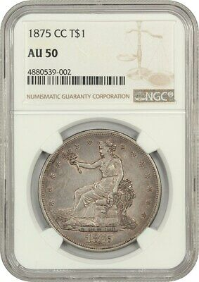 1875-CC Trade$ NGC AU50 - US Trade Dollar