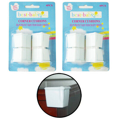 8pc Baby Proofing Corner Protectors Child Safety Table Edge Guards Bump Cushion