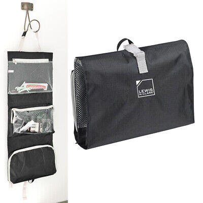 1 Hanging Toiletry Travel Organizer Black Kit Bag Cosmetic Carry On Shaving Case