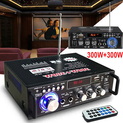 600W Bluetooth HiFi Stereo Wlan Verstärker Digital Power Amplifier FM Audio USB