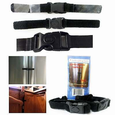 2 X Fridge Guard Lock Refrigerator Door Appliance Latch Strap Baby Safety Child