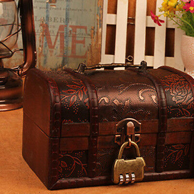 Vintage Safety Chest Box Code Pure Alloy Old Style Security Home Password Lock L