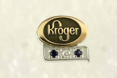 Diamond Sapphire KROGER Grocery Store Employee Service Pin 1/10 10KT Gold Filled