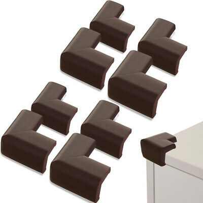8 Pc Foam Corner Cushion Protector L-Shape Baby Child Safety Edge Guard Brown