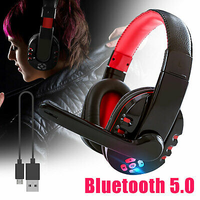 Bluetooth Headphones Over Ear Wireless Mic Stereo Comfort Wearing Phone Headsets
