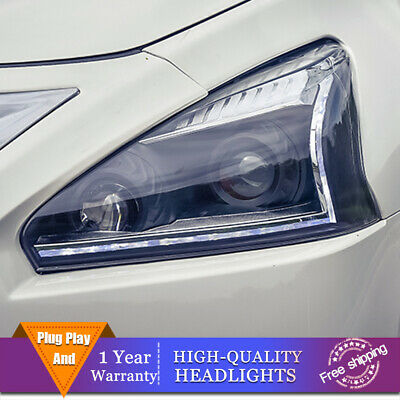 For Nissan Altima 2013-2015 Headlights Double Lens Beam Projector HID LED DRL