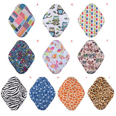 Washable Sanitary Napkins Reusable Bamboo Charcoal Menstrual Pads Mama Cloth Fad