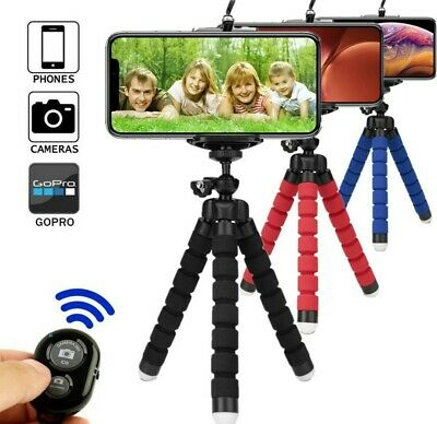 Treppiede cavalletto Flessibile supporto smartphone go pro telecomando Bluetooth
