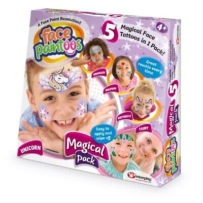 Face Paintoos FP003 Magical Pack Temporary Face Paint Tattoos