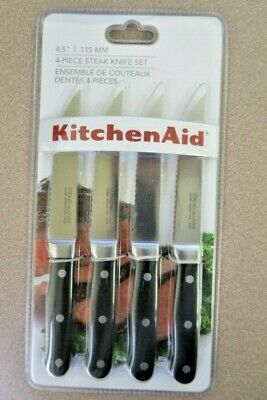 KitchenAid Forged 4-Piece 4.5-Inch Triple Rivet Steak Knives, KKFTR4OB New