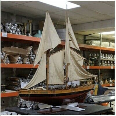 SAILBOAT MODEL Bluenose II Sail Boat Large 6ft Tall