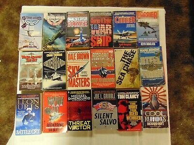 Military Mystery Thriller Suspense Paperback Books Lot Of 18 Free Ship #4