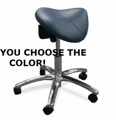 Galaxy 2080  Dental Saddle Stool Assistant Doctor's Contoured Chair 17 COLORS!