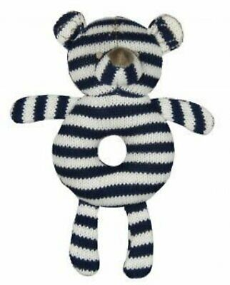 Es Kids - Ring Rattle - Knitted Bear
