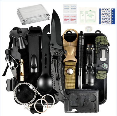 35 in 1 Outdoor Emergency Survival Gear Kit, EDC First Aid Medical Set