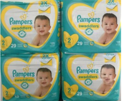Pampers Swaddlers Size 2 (Box of 116 diapers - 4 packs of 29)