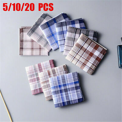 Men/'s 100/% Pure Cotton Handkerchiefs 38CM X 38CM Birthday Gift Bulk Deal 3