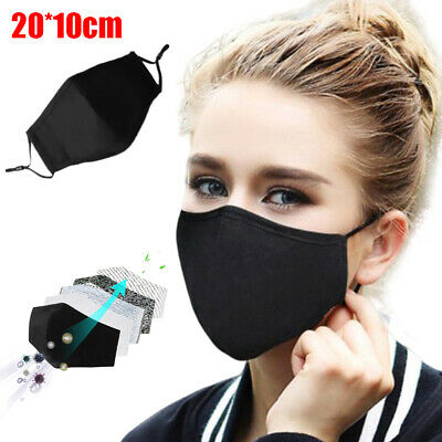 1PC Cotton Activated Carbon Filter Anti-pollution Cotton Mouth Cover Striking