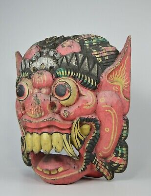 Old Wooden Mask of a Demon