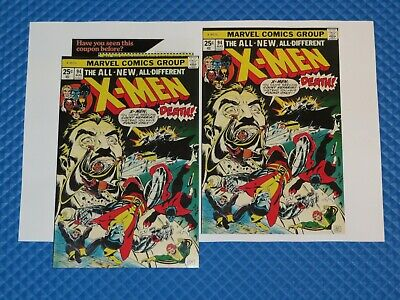 Uncanny X-Men #94 Beautiful Repro Cover Only w/Original Ads Key 1st New Team