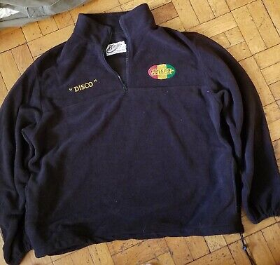 "The SLACKERS reggae embroidered ZIP FLEECE ""Disco"" men's XXL"