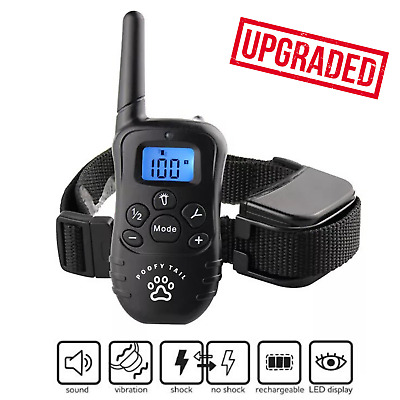 Dog Shock Training Collar With Remote Waterproof Rechargeable Small Medium Large