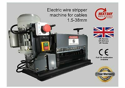 🇬🇧10 blades Wire Stripper / Stripping Machine for 1.5-38mm cables, UK vendor🇬