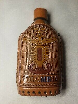 Colombia Glass Bottle Wrapped Flask
