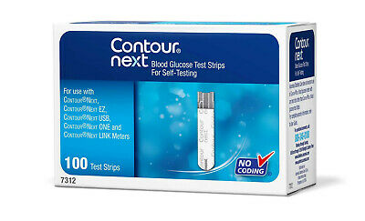 Bayer Contour Next Blood Glucose 100 Test Strips use with XT & Next Meters NEW