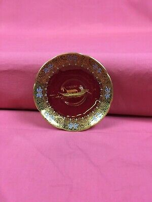 Vintage Carlton Ware Mikado Rouge Royale Saucer Made In England