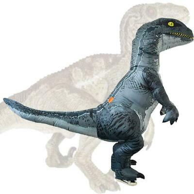 Velociraptor Dinosaur Inflatable Costume Suit Outfit for Party Cosplay