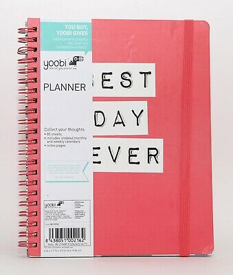 "New Yoobi Planner Undated ""Best Day Ever"" Monthly and Weekly"