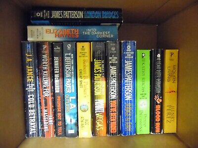 Large Lot of 24 Mystery, Thriller, Suspense Paperback Books Best Sellers