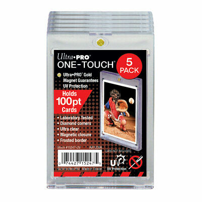 (5) Ultra PRO One Touch - Magnetic Card Cases - Standard 100 pt - UV Protected