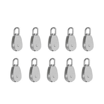 10x 304 Stainless Steel M15 Swivel Lift Pulley Block Mountain Climbing Tool