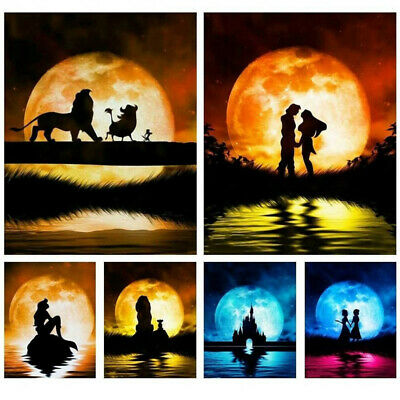 5D DIY Moon and Dancer Full Diamond Painting Craft Cross Stitch Embroidery Kit