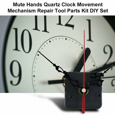 Mute Hands Quartz Clock Movement Mechanism Repair Tool Parts Kit DIY Set ZC