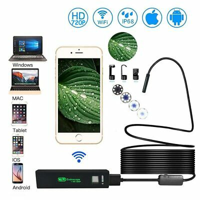 720P 8 LED WiFi Endoscope Wireless Inspection IP68 HD Camera For Apple Android