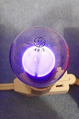 Vintage GE ARGON Purple Glow AR-1 Light Bulb ~Appears To Be New Old Stock~