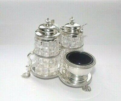 Antique Victorian Solid Silver Sterling Cruet Set Thomas Smily London 1867