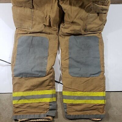 Flame Fighter FireFighter Turnout Pants w/ Suspenders Nomex 42 Stout Inseam 34