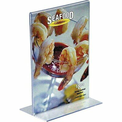 """12 Staples Vertical Plastic Stand-Up Menu Sign Holder, 5"""" x 7""""  - #16657"""
