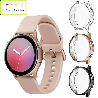 3 Pack Screen Protector Shell Cover case Samsung Galaxy Watch Active 2 40mm/44mm