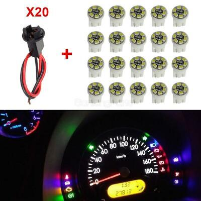 20xT10 White 6-SMD LED+PC194 Hole Extension Connector Wire Harness Instrument