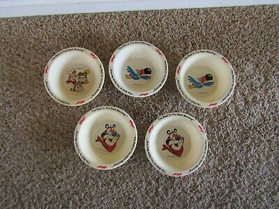 Vintage 1995 Kelloggs Cereal Bowls Set of 5