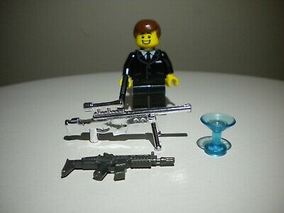 Custom Designed Minifigure 007 James Bond /& Spy Case Printed On LEGO Parts