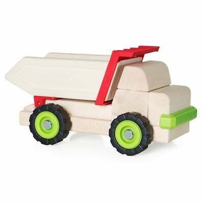 Big Block Dump Truck Green/Tan