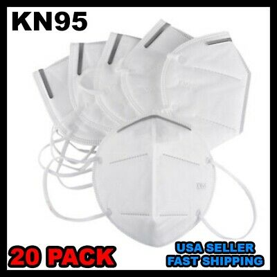 20pcs 95-KN Mask Covers Mouth & Nose Protective Face FAST Shipping USA Seller