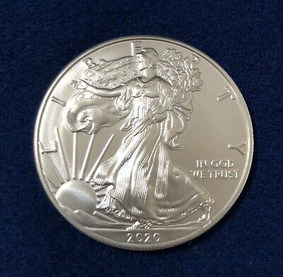 1 OZ dollaro USA LIBERTY EAGLE 2020 ARGENTO SILVER ONCIA